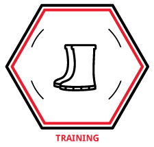 Safety training icon